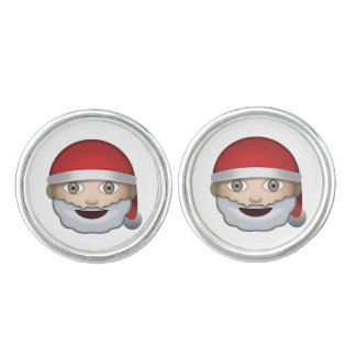 Father Christmas Emoji Cufflinks