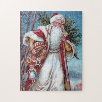 Father Christmas On His Way Jigsaw Puzzle