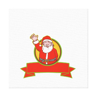 Father Christmas Santa Claus Gallery Wrapped Canvas