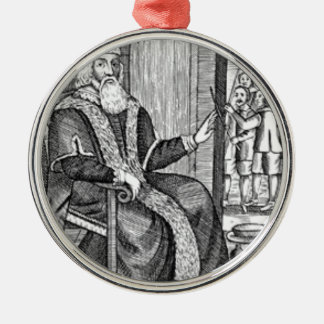Father Christmas trial Silver-Colored Round Ornament