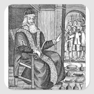 Father Christmas trial Square Sticker