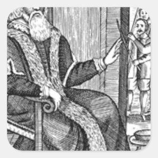 Father Christmas trial Square Sticker