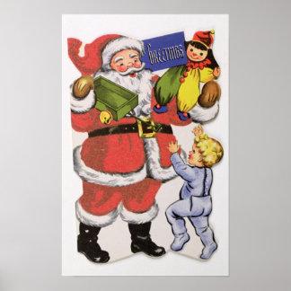Father Christmas, Victorian Christmas card Poster