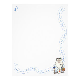 Father Christmas w/blue gloves and a dragonfly Letterhead Template