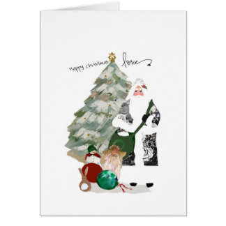 Father Christmas wishes you Christmas Love Card