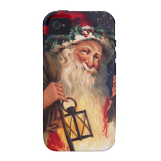 Father Christmas with Lantern iPhone 4/4S Cases