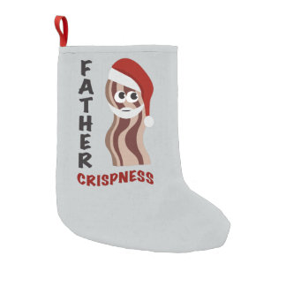 Father Crispness! Bacon Small Christmas Stocking