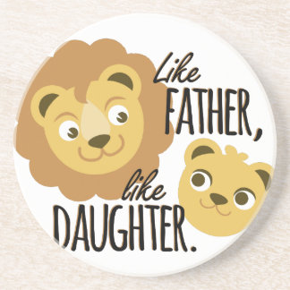 Father Daughter Beverage Coasters