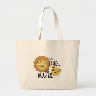 Father Daughter Large Tote Bag
