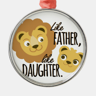 Father Daughter Metal Ornament