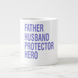 b654f7f84 Best Dad Ever Mug Gift for Fathers Day. $24.35. Father Husband Protector  Hero Large Coffee Mug