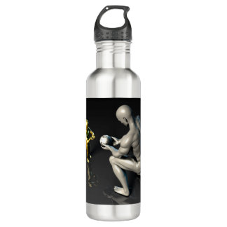 Father Imparting Wisdom to His Child or Son 710 Ml Water Bottle