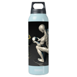Father Imparting Wisdom to His Child or Son Insulated Water Bottle