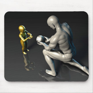 Father Imparting Wisdom to His Child or Son Mouse Pad