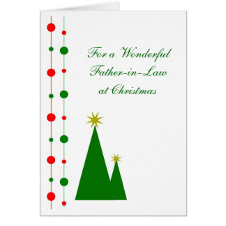Father-in-Law Christmas Card Christmas Trees