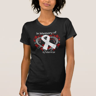 Father-in-Law - In Memory Lung Cancer Heart Tee Shirt