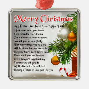 father in law poem christmas design metal ornament - What To Get Father In Law For Christmas