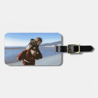 father luggage tag
