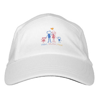 Father, mother, child headsweats hat