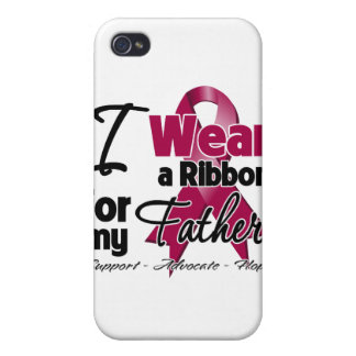 Father - Multiple Myeloma Ribbon Case For iPhone 4
