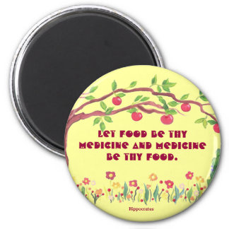 father of medicine 2 inch round magnet