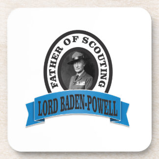 father of scouting lord baden powell beverage coasters