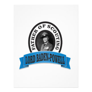 father of scouting lord baden powell letterhead