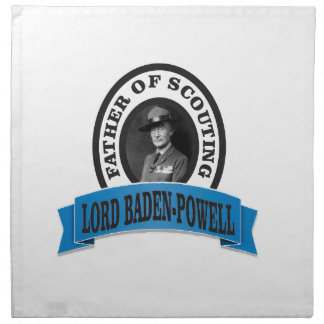 father of scouting lord baden powell napkin