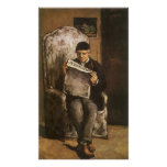 Father Of The Artist Reading by Cezanne, Fine Art Posters