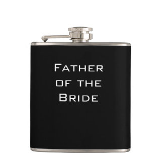 Father of the Bride Black Flask