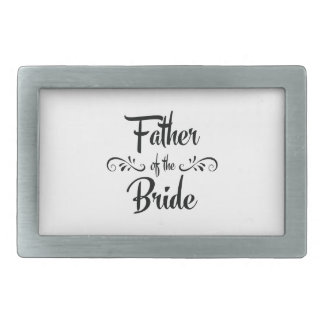 Father of the Bride Funny Rehearsal Dinner Rectangular Belt Buckles