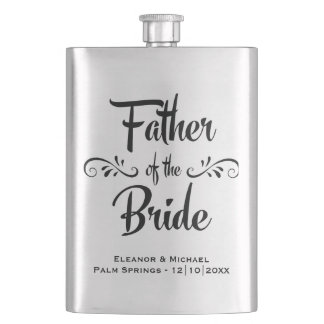 Father of the Bride - Funny Wedding Party Gift Flasks
