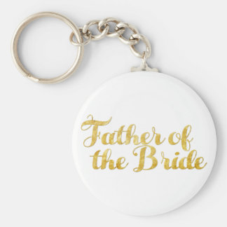 Father of the bride gold keychain