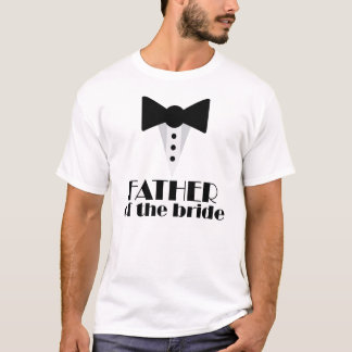 Father of the Bride Mock Tuxedo Wedding T-shirt