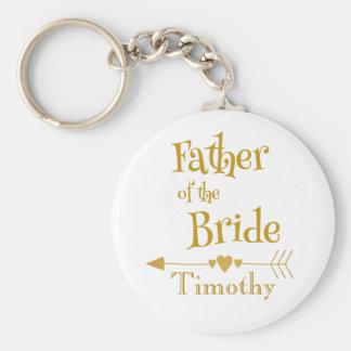 Father of the Bride Wedding Keepsake Keychain