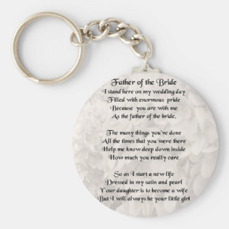 Father of the Bride - White Basic Round Button Keychain