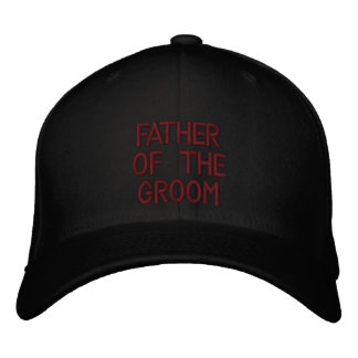 Father of the Groom Embroidered Hat