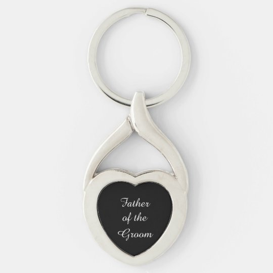 Father Of The Groom Heart Metal Keychain