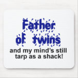 Father of Twins Mouse Pads