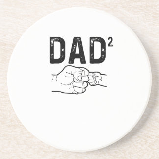 Father Of Two Daughters Or Sons Mens Fathers Day T Coaster