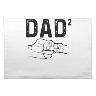 Father Of Two Daughters Or Sons Mens Fathers Day T Placemat