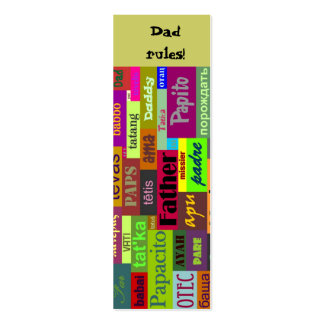 Father s Day Bookmark Business Cards