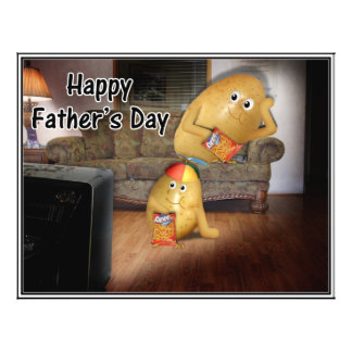 Father s Day - Couch Potatoes the Late Show Personalized Flyer