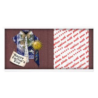 Father s Day - Dads Earth Shirt on Barn Background Photo Greeting Card