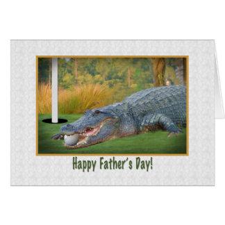 Father's Day, Golf, Alligator Card