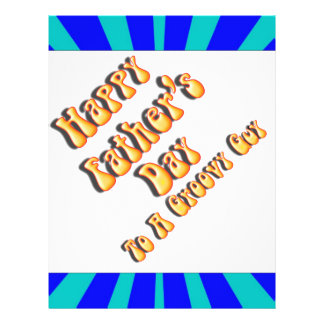 Father s Day Groovy Blues Retro For Groovy Guy Full Color Flyer