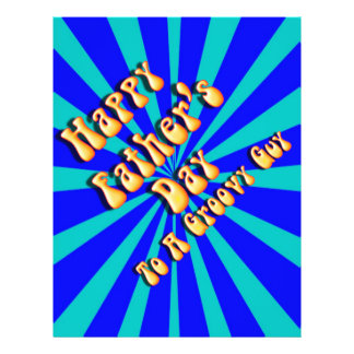 Father s Day Groovy Blues Retro For Groovy Guy Flyer