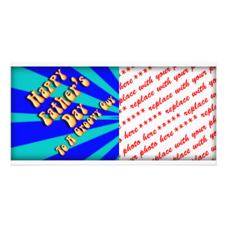 Father s Day Groovy Blues Retro For Groovy Guy Picture Card