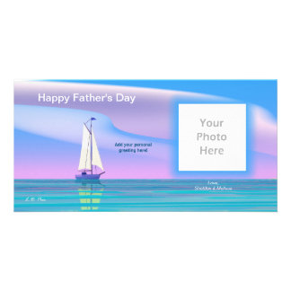 Father s Day Sail Away Photo Card Template