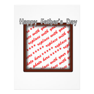 Father s Day Square Brown Photo Frame Full Color Flyer